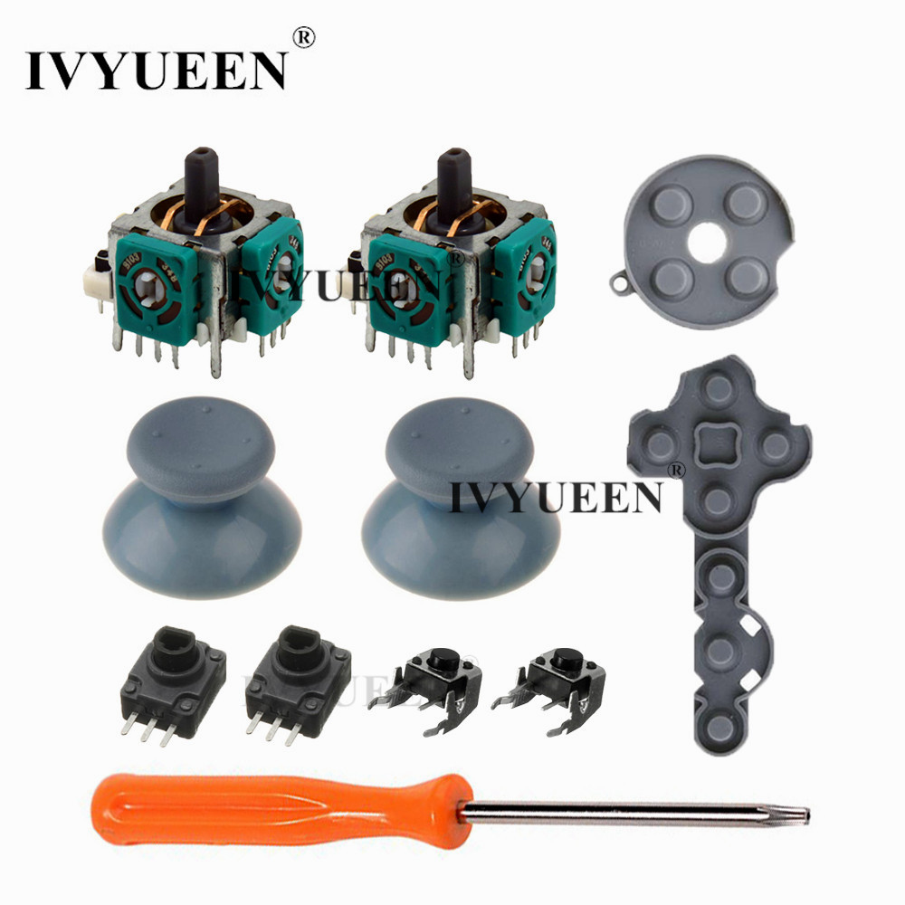 IVYUEEN 11 In 1 For Microsoft Xbox 360 Controller Analog Stick Sensor Potentiometers + Thumb Grips LT RT Trigger Switch Buttons