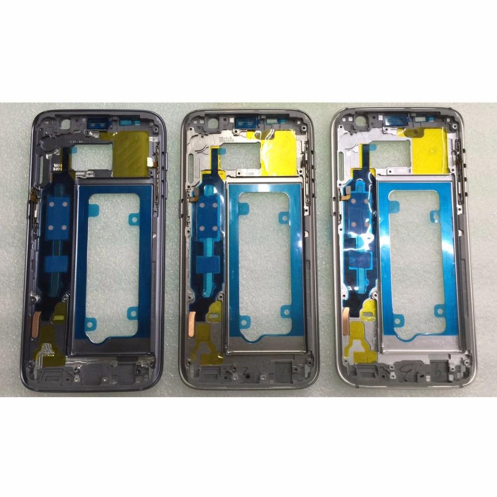 imágenes para Original Marco Medio Para Samsung Galaxy S7 G930 G930F Mediados Chasis Bisel Vivienda Estructura Metálica con Tecla Lateral de Repuesto