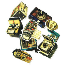 9 pcs Nostalgische Camera Cool Graffiti Sticker Koffer Trolley Waterdicht Retro Camera Vintage Grammofoon DIY Stijl Sticker(China)