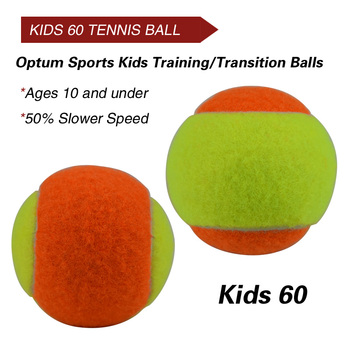 12pcs Beginner Child or Adult Training (Transition) Practice Tennis Balls (25%-75% Slower Ball Speed) 20