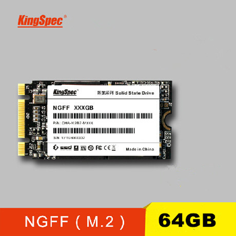 Kingspec NGFF solid state drive NGFF M 2 SSD 64GB 6Gbps without Cache PCIe MLC flash