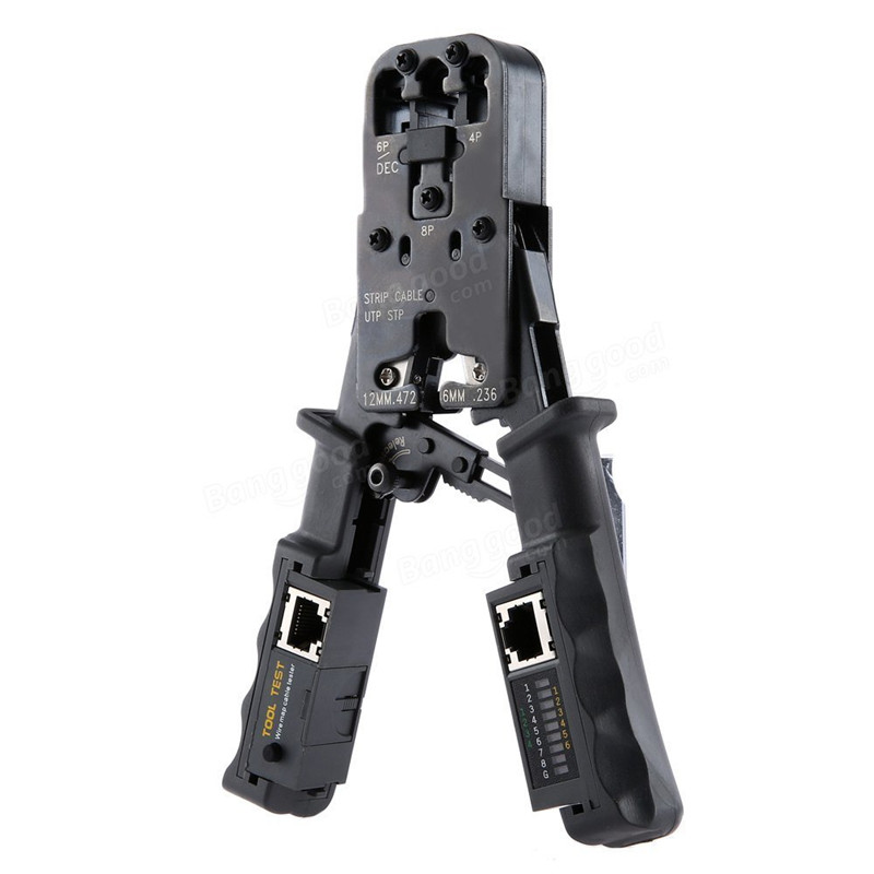 2 in 1 RJ45 Network LAN Cable Crimper Pliers Cutting Tool Cable Tester Cable Pliers 6P/8P Wire Cutter Tool Test Crimping Pliers 2 in 1 round multifunction graduated cutting cable strippers rasp dremel 2016
