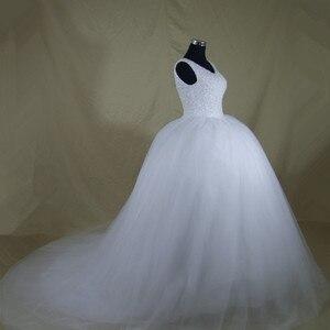 Image 4 - Robe De mariée luxueuse à Bling, robe De mariée sur mesure, pour la mariée en grande taille, nouvelle collection 2020