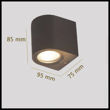 LED outdoor light courtyard single headlight waterproof hotel balcony aisle exterior double head square wall lamp