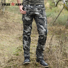 Free Army Brand 2017 New Design Mens Pants Multi-Pockets Camouflage Military Trousers Casual Cotton Pants for men MK-7299B