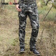 Ücretsiz Ordu Marka 2017 Yeni Tasarım Erkek Pantolon Çok Cepler Kamuflaj Askeri Pantolon Rahat pamuklu pantolonlar erkekler için MK 7299B