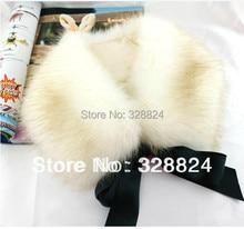 High quality Women Lady Bow Faux Fur Scarf Boa Wrap Collar Shawl