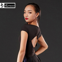 Latin dance dress female top 2019 new dance clothes backless bottoming shirt Latin shirt A1074