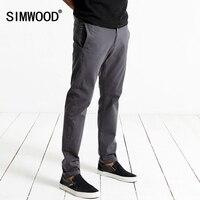 SIWWOOD 2017 Spring Casual Pants Men Fashion Slim Fit Trousers Zipper Fly Brand Clothing KX5537