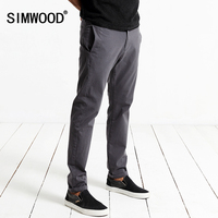 SIWWOOD 2017 Spring Casual Pants Men Fashion Slim Fit Trousers Zipper Fly Brand Clothing KX5537