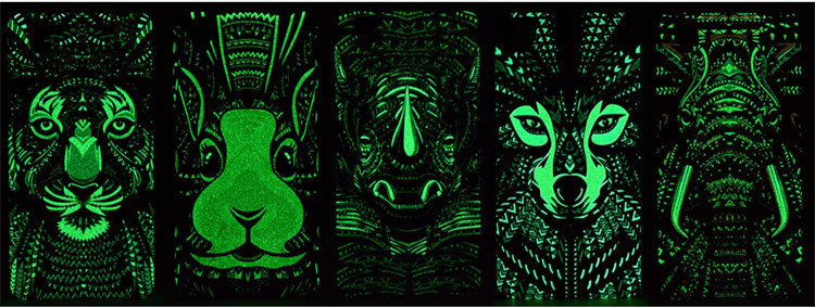 Meizu M3s Case Animal Elephant Tiger Lion Wolf Rabbit Meizu M3s mini Coque Fundas Luminous PC Hard Painting Protect Cover kilif