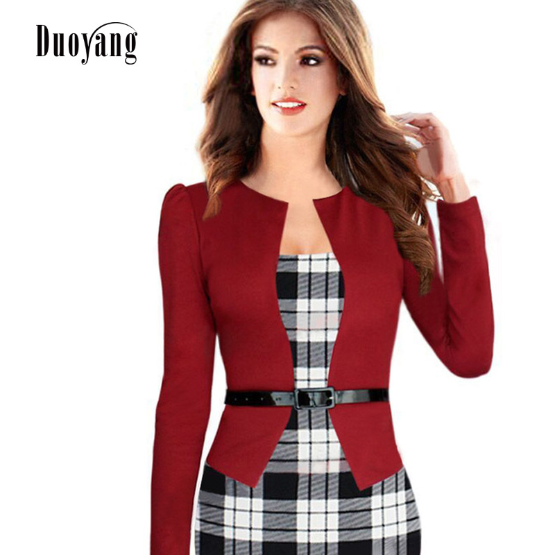2018 new fashion Women dress long sleeve Fake two sexy tight dress women clothing