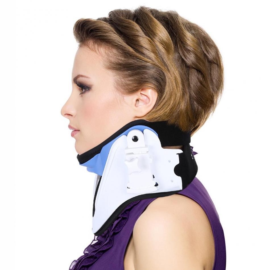 Adjustable Neck Brace Support Cervical Traction Fixation Spine Care Correction Protection Pain Relief Posture Corrector summer adjustable thoracolumbar orthosis spine lumbar compression fracture fixation support waist brace universal white color