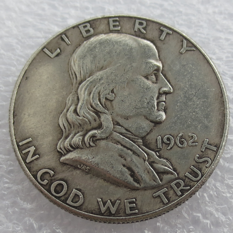 1962 P D Franklin Silver Half Dollar 90% silver or silver plated copy coins High Quality