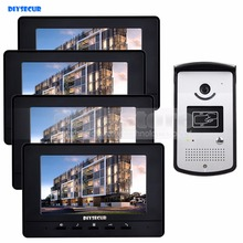 DIYSECUR 7 inch Video Door Phone Doorbell Home Security Intercom System RFID LED Night Vision RFID