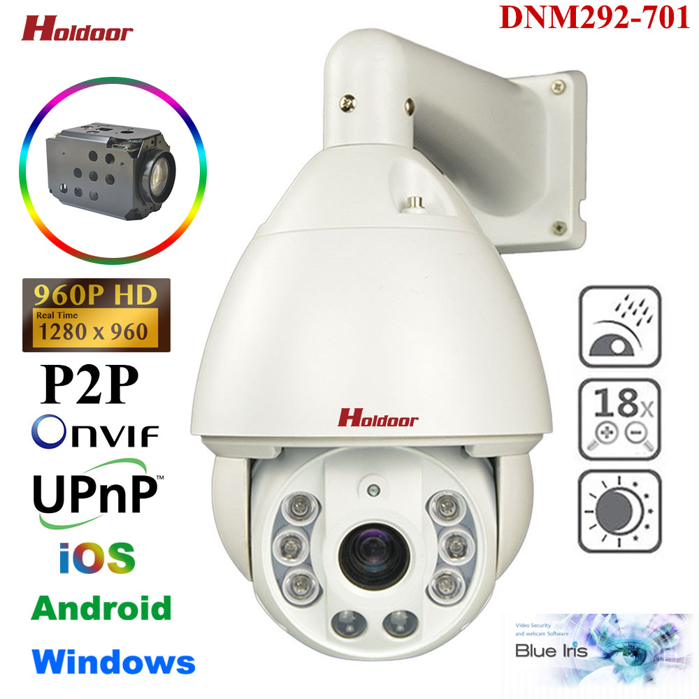 Security CCTV 960P 1.3MP HD IP PTZ High Speed Dome Camera 18X Zoom IR 150M Auto Focus Pan/Tilt/Zoom Outdoor P2P Onvif DNM292-701 hd 1 3mp ip ptz high speed dome outdoor camera mini 6 18x pan tilt zoom onvif network megapixel 720p 960p security cctv p2p
