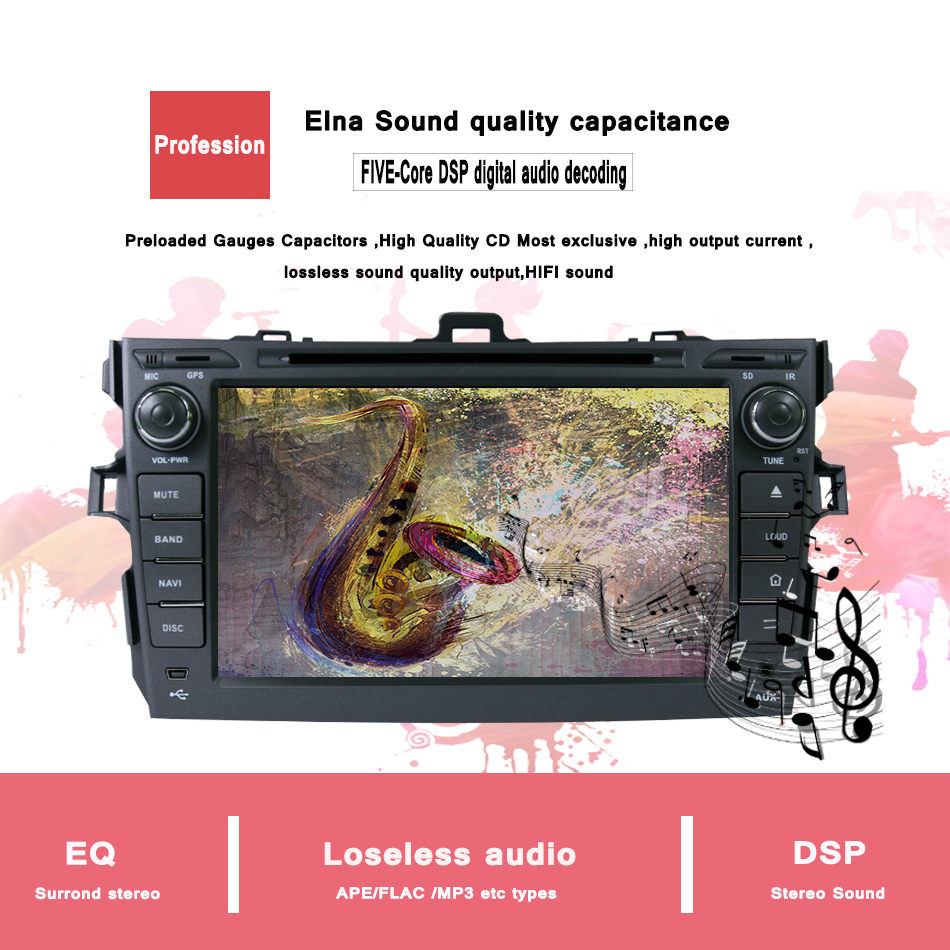 Clearance 4G+32G for Toyota corolla 2007 2008 2009 2010 2011 car dvd gps navigation android 9.0 car console car radio player car HD stereo 8