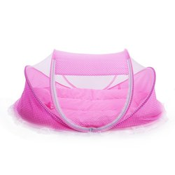 Lowest price promotion cute baby crib 4pcs portable type comfortable babies pad with sealed mosquito net.jpg 250x250