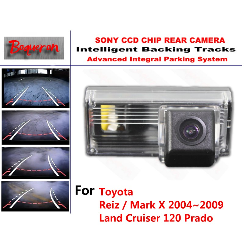 for Toyota Reiz Mark X Land Cruiser 120 Prado CCD Car Backup Parking Camera Intelligent Tracks