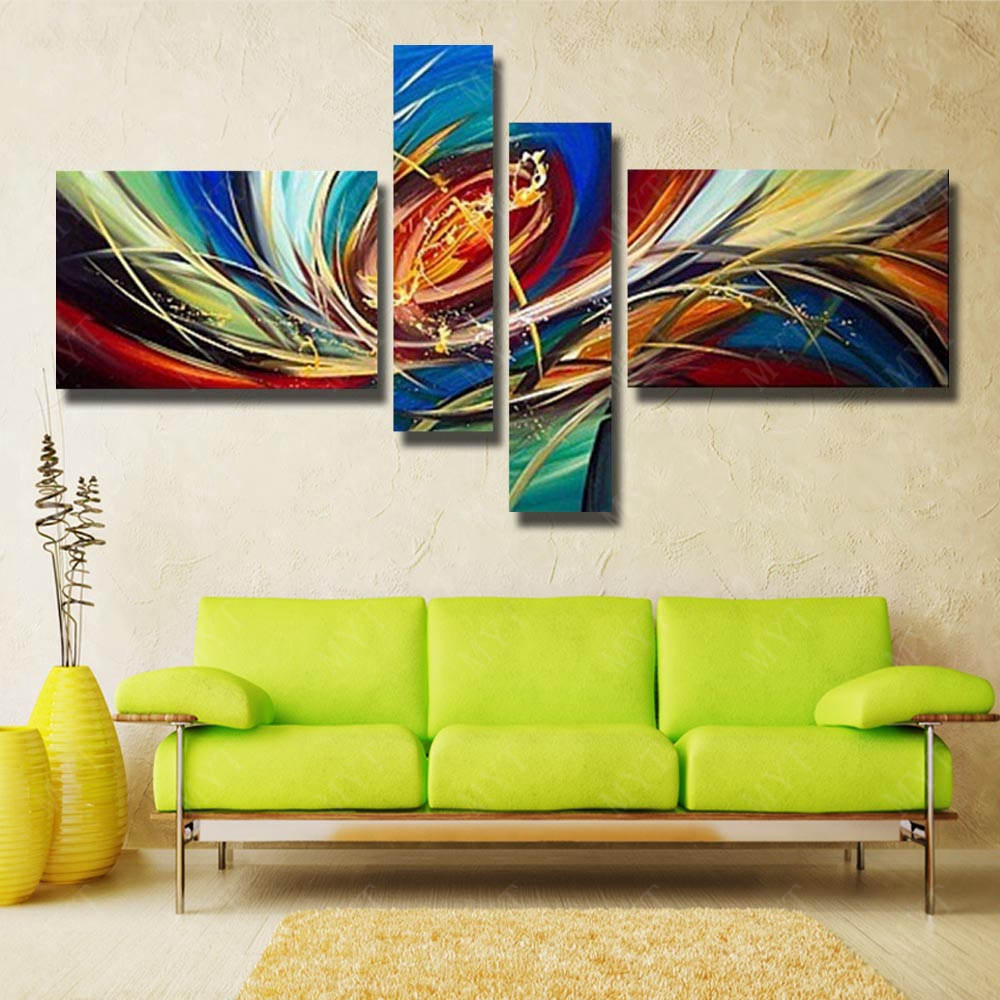 Oil Painting for Living Room Home Decoration Wall Art Painting On ...