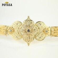 القوقاز شيك قفطان الزفاف الذهب والفضة حزام من المعدن للون الذهب الفاخرة النساء حزام سلسلة طول قابل للتعديل
