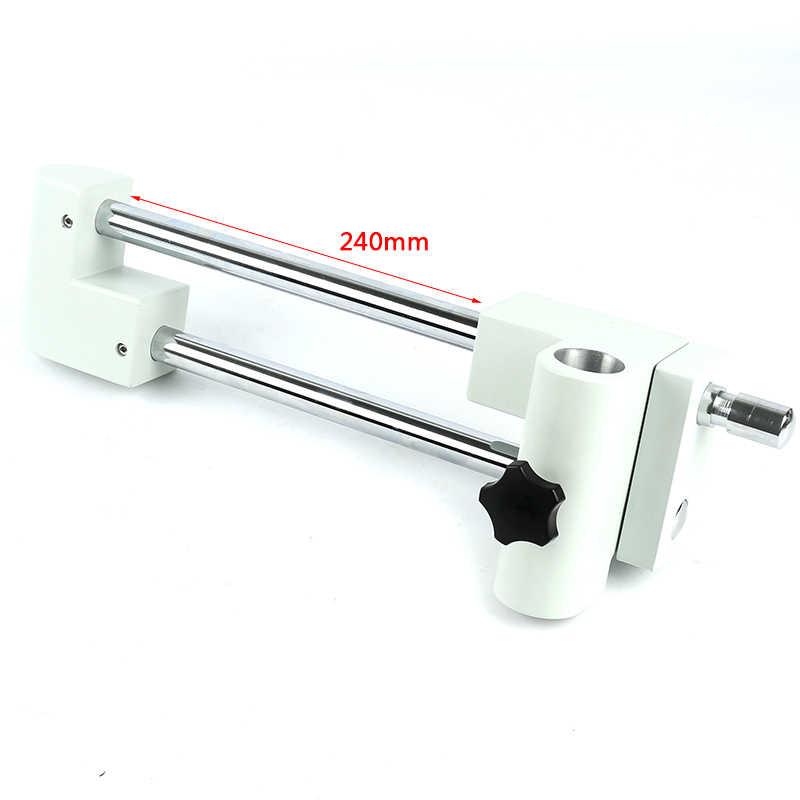3.5X-90X зум Simul-Focal Универсальный двойной рычаг стрелы стенд лабораторный промышленный Тринокулярный Стерео микроскоп для пайки печатных плат