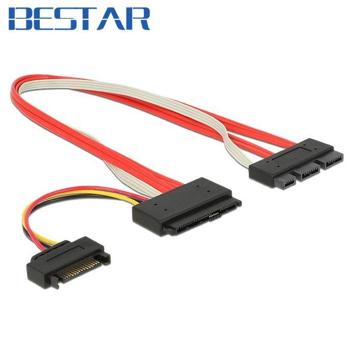 SFF-8639 Raid SATA 3.2 Express 18pin (7+7+4) & 15Pin Power to SFF-8482 SAS Express 29pin Data Raid Cable 30cm 1ft 0.3m 10632 slim sata 13 pin to 7 pin data 4 pin power connection cable