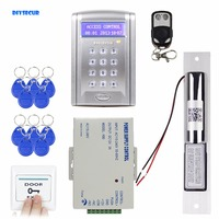 DIYSECUR Remote Controlled RFID Access Control Door Lock System Kit +Electric Bolt Lock Security System with Doorbell Button