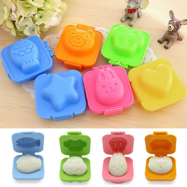6 Pcs Boiled Egg Sushi Rice Mold Mould Bento Maker Sandwich Cutter Moon Cake Decorating Decoration Kitchen Tools