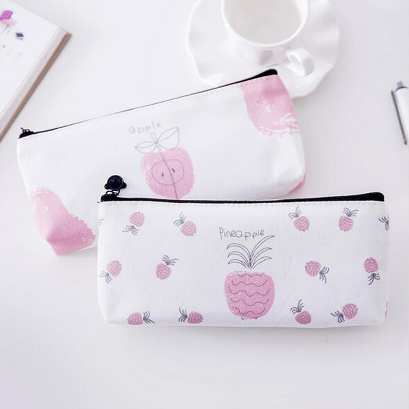 1Pcs Pencil Case Fruit Pencil Case 2017 Kawaii for Grils Pencils Bags for Kids Gift