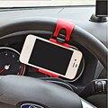 Универсальный Рулевого Колеса Автомобиля Телефон Владельца для iphone Гибкий Резиновый Держатель Для Samsung GPS Свободной Рукой Стенд Автомобильный Держатель Поддержка