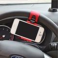 Volante Do Carro Universal Titular Suporte Do Telefone para o iphone de Borracha Flexível Para Samsung GPS Mãos Livres Suporte Suporte Suporte Para Carro