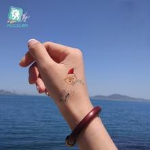 Rocooart fashion Body Art WaterProof Temporary Tattoo Stickers Cartoon Merry Christmas Xmas Flash Taty tatouage