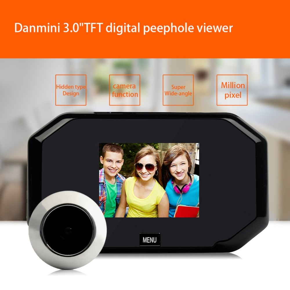 Video Eyes 3.0 Inch TFT LCD Digital Camera Door Peephole Color Screen Cat Eye Night vision 145 degree Viewer original danmini 3 0 tft lcd color screen door peephole viewer ir led night vision light doorbell 145 degrees view angle system