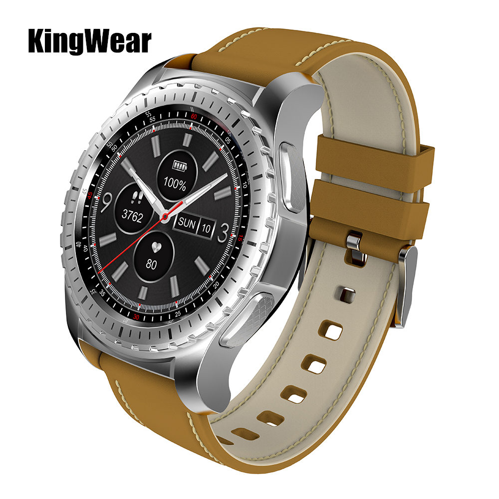 KingWear KW28 Smartwatch Phone 1.3 inch Pedometer Heart Rate Monitor Remote Camera Anti-lost Bluetooth Smart Watch For Men