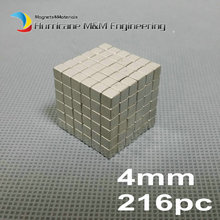216 pcs N42 Block 4x4x4 mm NdFeB Magnet Cube Magic Toy 4mm Neodymium Magnets Rare Earth Magnets Permanent