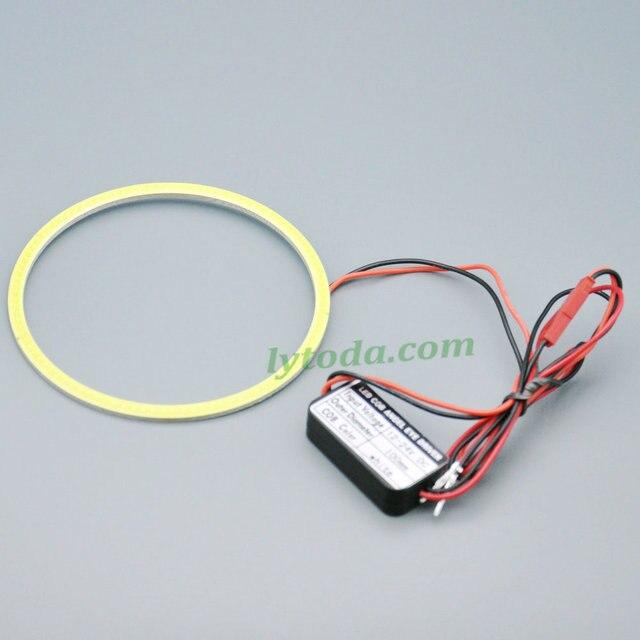 2pcs DC12 24V Input 120mm COB LED Angel Eyes for auto headlight with ...