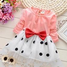 Toddler Summer Dress Cotton Newborn Baby Girl Clothes Full Sleeve Baby Girl Dress