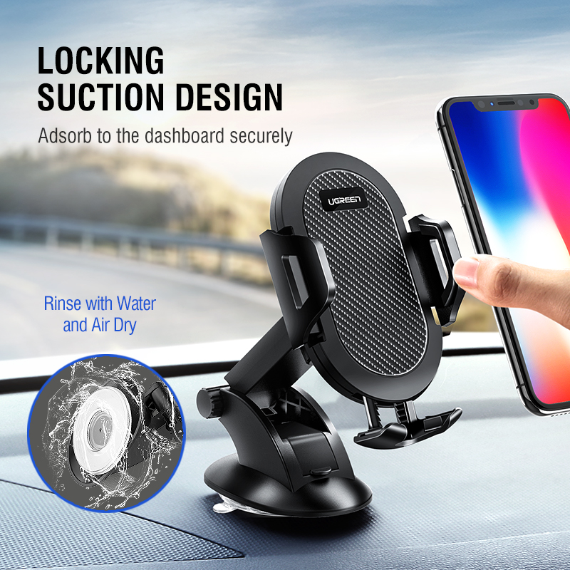 Ugreen Car Phone Holder No Magnetic Gravity Stand in the Car Suction Cup Support Holder for Your Mobile Phone 4