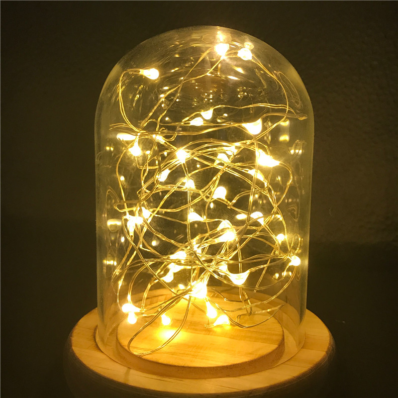 2M 20LEDS Fairy Lights 20 Micro Starry Light CR2032 Button Battery Operated Copper String for Christmas Wedding Decorations in Holiday Lighting from Lights Lighting
