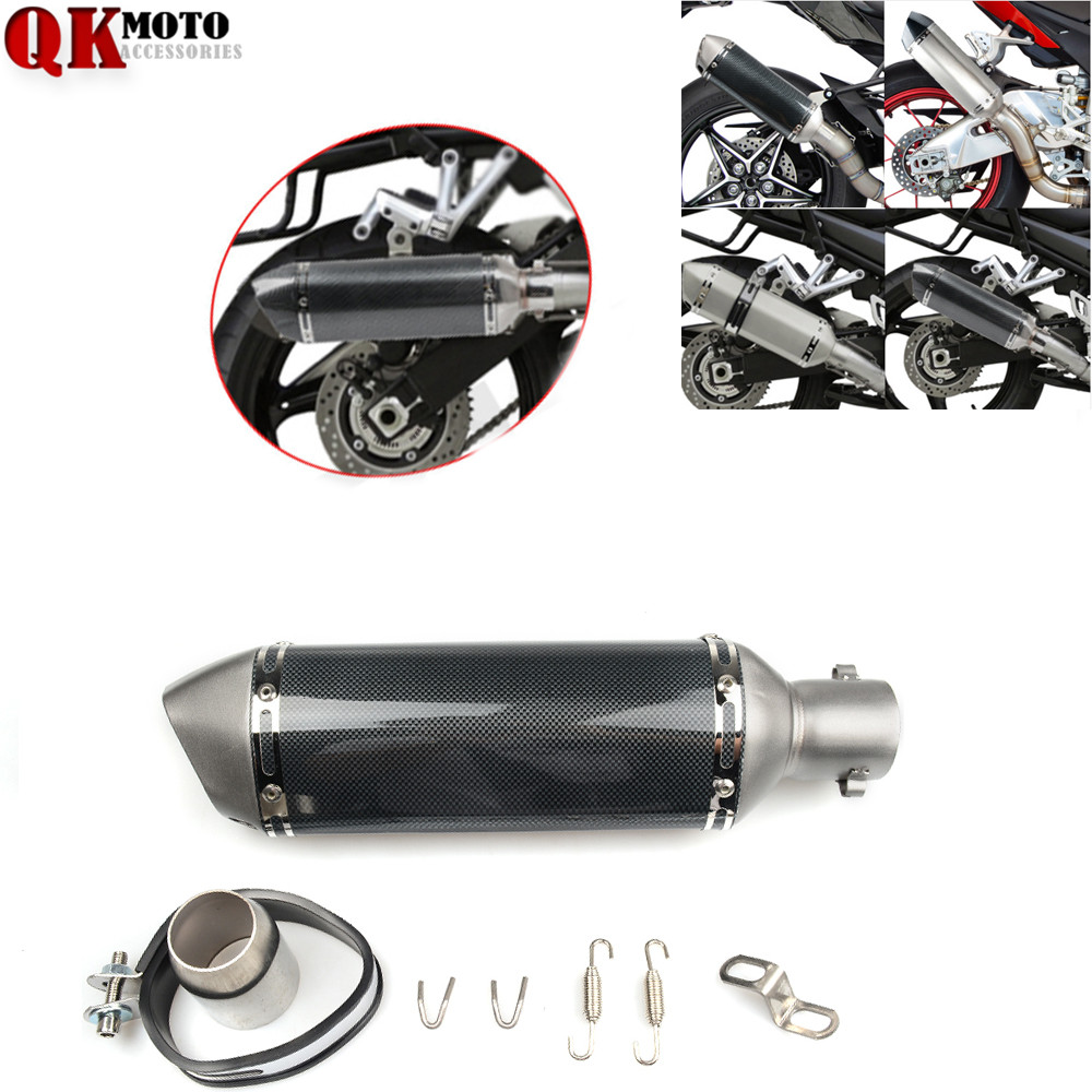 36MM-51MM FOR YAMAHA XV 950 RACER TDM 900 MT-125 MT125 MT-01 YBR 125 YZF R15 Motorcycle Exhaust pipe Muffler Escape DB-killer free shipping exhaust motorcycle muffler for akrapovic escape moto pitike db killer nmax cb650f ybr 125 sv650 cbr250r ktm