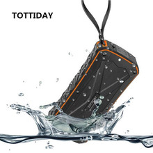 TOTTIDAY Waterproof Bluetooth Speaker Wireless Outdoor Music Box Loudspeaker Speaker with Power Bank For iPhone Xiaomi Samsung
