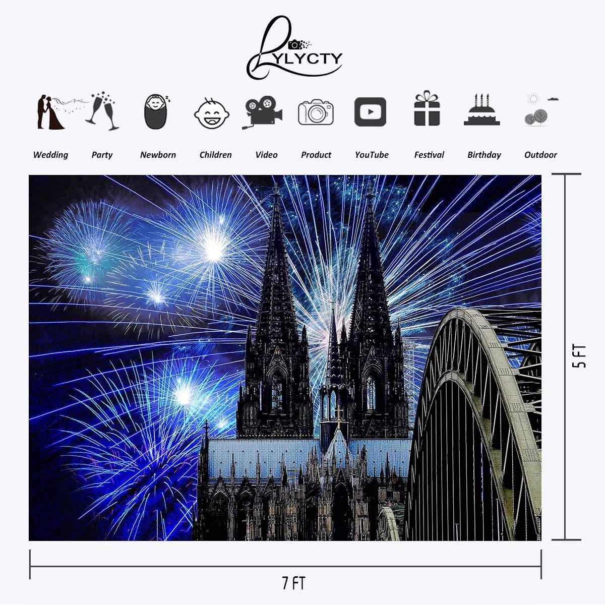 7x5ft Colorful Fireworks Backdrop Colorful Fireworks Magic Castle Photography Background and Studio Photography Backdrop Props in Photo Studio Accessories from Consumer Electronics