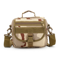 Tactical Messenger Bag Nylon Molle Single Shoulder Cycling Chest Pack Military Sling Bag Vintage Camouflage Army