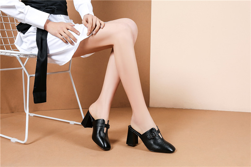 1Fashion Mules Shallow Leather 17