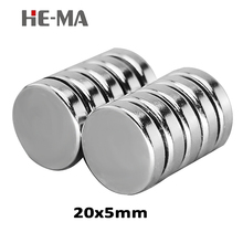 5pcs 20x5mm Neodymium magnet N35 Mini Super Strong Powerful magnetic magnets search Small Ronud Rare earth