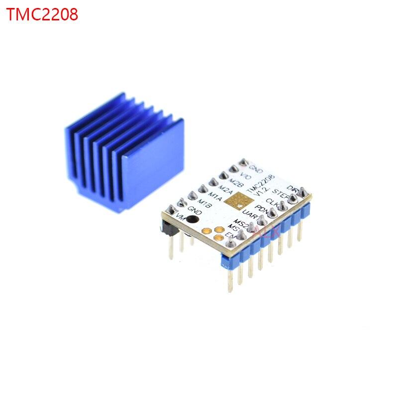 5pcs TMC2208 V1.2 Super Silent Stepstick Stepper Motor Driver Module /& Heatsinks