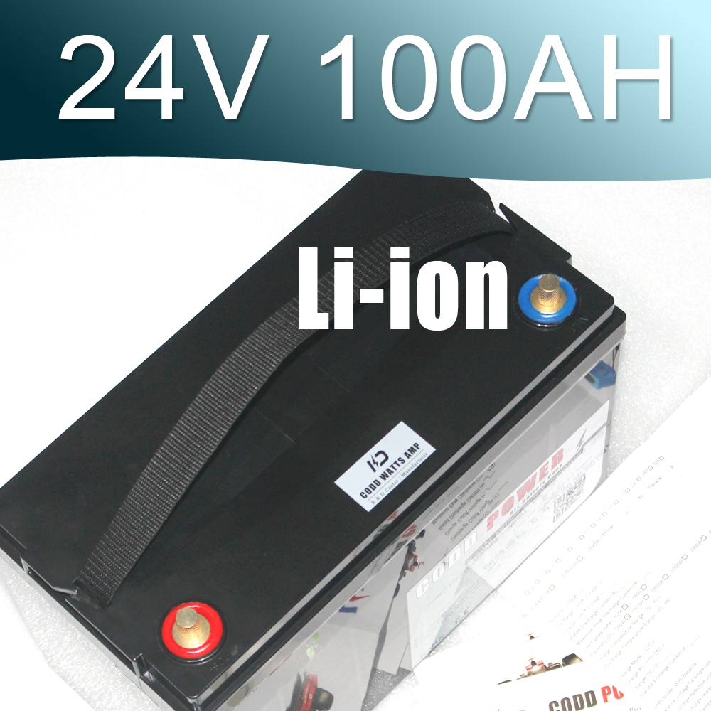 Electric bicycle 24V 100AH Lithium ion Battery 25.9V Li ion Tricycle Waterproof Box
