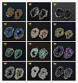 5pcs 2016 HOT! Natural Druzy Agate Pendant,Geode Druzy Stone Agate Connector Pendant Jewelry with Mixed Colors Choice RF027
