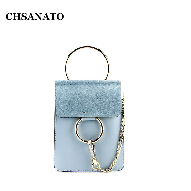 CHSANATO Stylish Popular Brand Designer Handbag High Quality Women Genuine Leather Girls Bag Shoulder Mini Chain Ring Bags